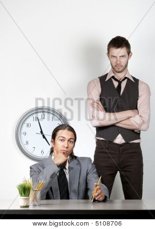 Bored Man And Angry Coworker