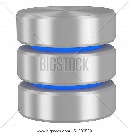Database Icon With Blue Elements