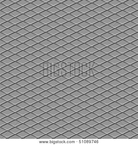 Metallic Diamond Flooring Seamless Background