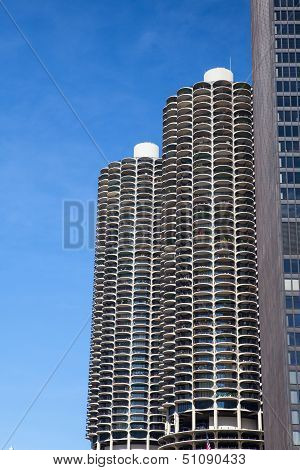 Chicago - June 13: Marina City On June 13, 2013 In Chicago.marina City Called A