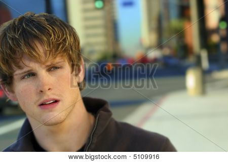 Young Man In City