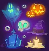 image of spooky  - Spooky Halloween objects - JPG