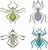 foto of symmetrical  - Symmetrical spider tattoos - JPG