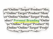 Advertising concept: Personal Branding on Paper background poster