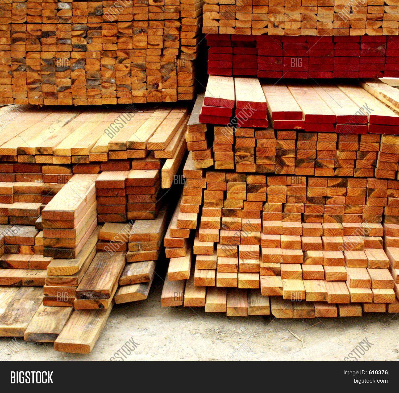 Pile lumber image photo bigstock