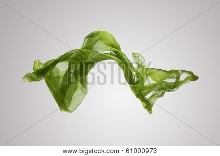 abstract piece of fabric flying, high-speed studio shot
