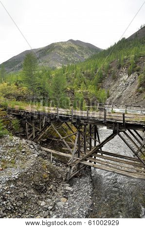 The Old Bridge In The Mountains.