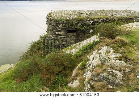 World War II Pillbox, Borth Y Gest, At The End Of The Glaslyn Estuary.