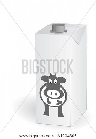 carton one liter of milk, vector, eps10