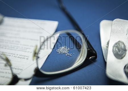 Glasses Focus Composition Of Medication