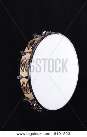 Tambourine Isolated On Black