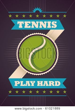 Tennis poster design. Vector illustration.