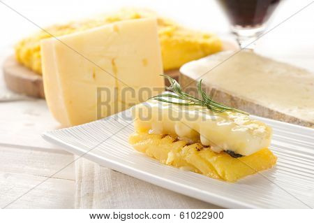 grilled polenta with cheese