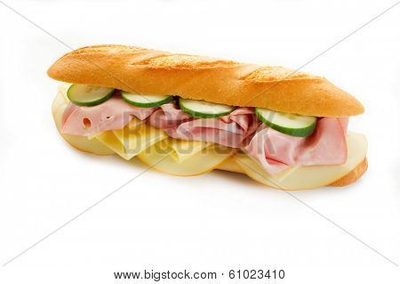 sandwich with mortadella and cheese