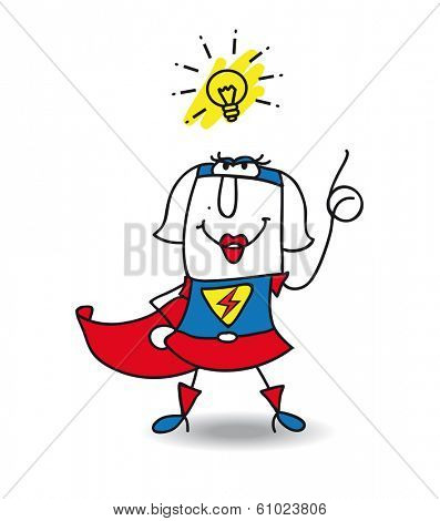 Karen the Superhero has a good idea. this girl is very creative  and intelligent