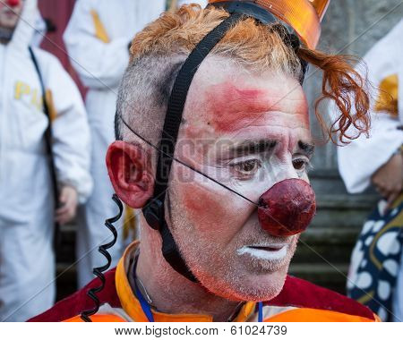 Portrait Of Clown Moriss At Milan Clown Festival 2014