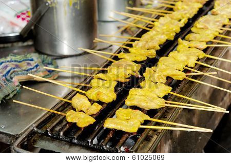 Pork Kebab On The Grill