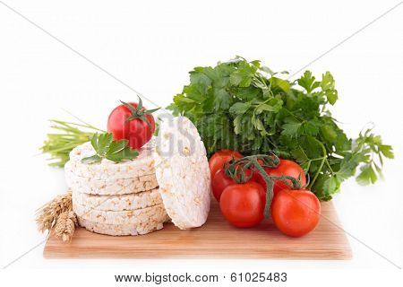 rice cake and vegetable