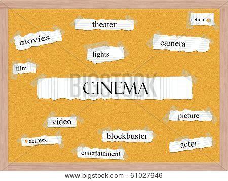 Cinema Corkboard Word Concept