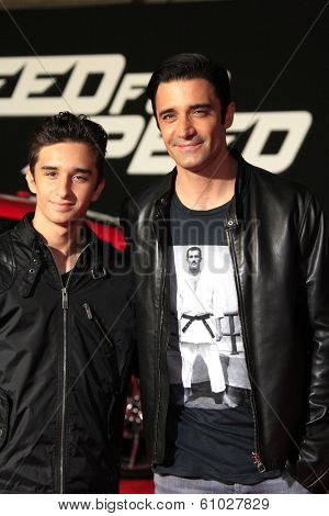 LOS ANGELES - MAR 6: Georges Marini, Gilles Marini at the premiere of DreamWorks Pictures' 'Need For Speed' at TCL Chinese Theater on March 6, 2014 in Los Angeles, California