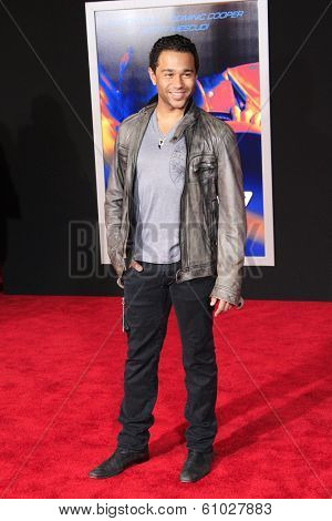 LOS ANGELES - MAR 6: Corbin Bleu at the premiere of DreamWorks Pictures' 'Need For Speed' at TCL Chinese Theater on March 6, 2014 in Los Angeles, California