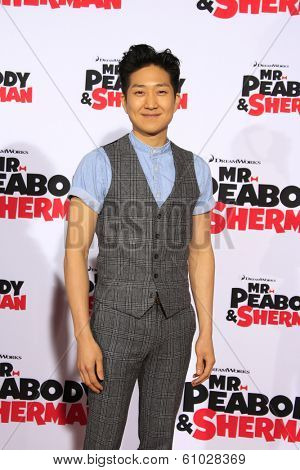 LOS ANGELES - MAR 5: Tim Jo at the premiere of 'Mr. Peabody & Sherman' at Regency Village Theater on March 5, 2014 in Los Angeles, California
