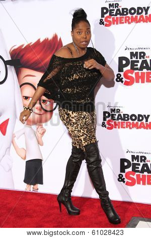 LOS ANGELES - MAR 5: Shar Jackson at the premiere of 'Mr. Peabody & Sherman' at Regency Village Theater on March 5, 2014 in Los Angeles, California