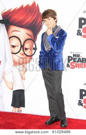 LOS ANGELES - MAR 5: Max Charles at the premiere of 'Mr. Peabody & Sherman' at Regency Village Theater on March 5, 2014 in Los Angeles, California
