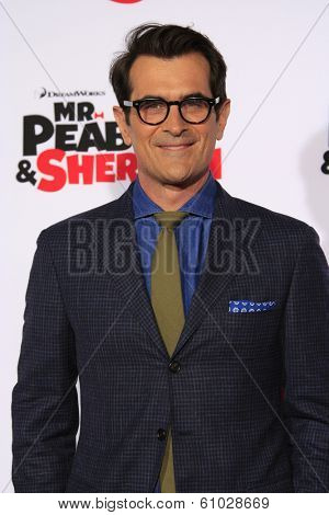 LOS ANGELES - MAR 5: Ty Burrell at the premiere of 'Mr. Peabody & Sherman' at Regency Village Theater on March 5, 2014 in Los Angeles, California