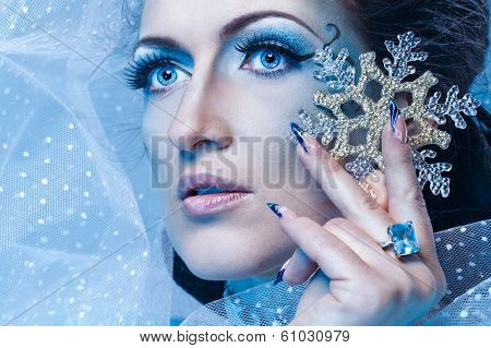 Snow Queen And Snowflake