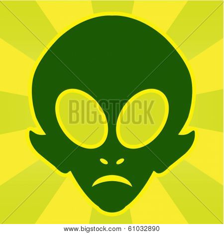 Alien Head Illustration