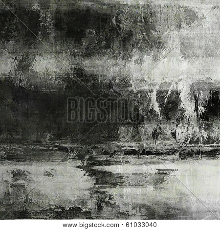 art abstract acrylic background in black, grey and white colors
