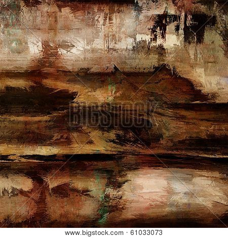 art abstract acrylic background in beige, red and brown colors