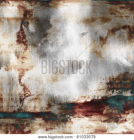art abstract acrylic background in white, grey, brown and green-blue colors