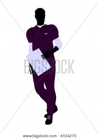 Male Doctor Illustration Silhouette