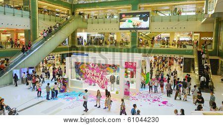 HONGKONG - SEPTEMBER 28: shopping store interior on September 28, 2013 in Hongkong, China. Hong Kong has many nicknames, but the most famous is
