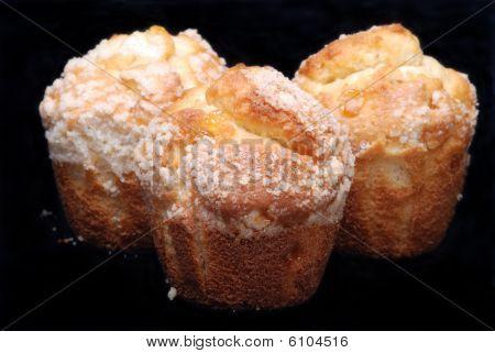 Lemon Muffins On Black