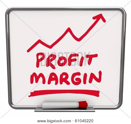 Profit Margin Words Dry Erase Board Increase Earnings