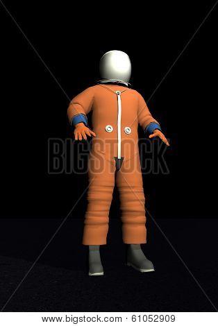 Advanced crew escape space suit - 3D render
