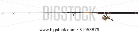 Spinning Rod For Fishing (clipping Path)