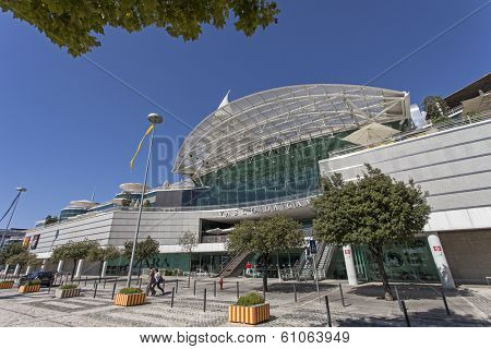 Lisbon, Portugal - August 02, 2013: Vasco da Gama Shopping Centre in Parque das Nacoes (Park of Nations). One of the largest shopping malls in Lisbon