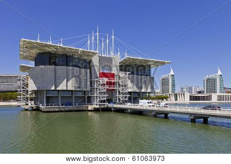 Lisbon, Portugal - August 02, 2013: Lisbon Oceanarium, the second largest oceanarium in the world and the biggest in Europe. Parque das Nacoes.