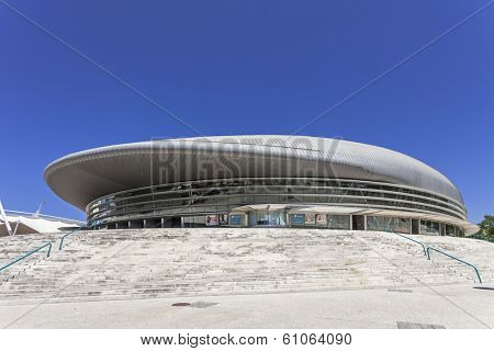 Lisbon, Portugal - August 02, 2013: Atlantico Pavilion (Pavilhao Atlantico), currently called MEO Arena, in Park of Nations (Parque das Nacoes)