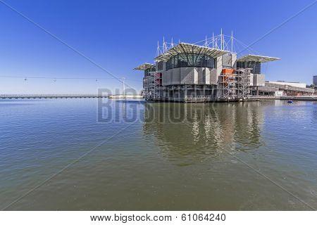 Lisbon, Portugal - April 02, 2013: Lisbon Oceanarium, the second largest oceanarium in the world and the biggest in Europe. Parque das Nacoes.