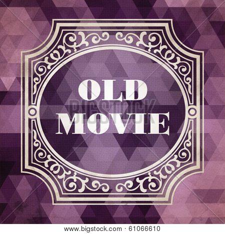 Old Movie. Vintage Background.