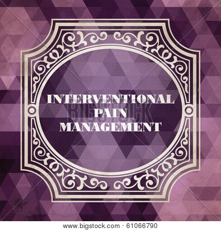 Interventional Pain Management Concept.