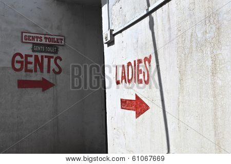 Sign Ladies For The Public Toilet