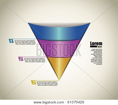 vector abstract pyramid infographic elements