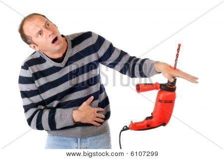 Mann-Drill-Unfall