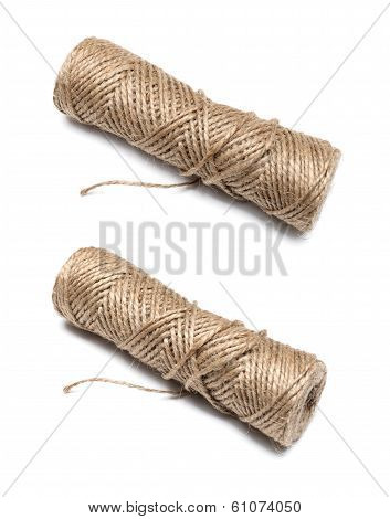 Bobbin Of The Natural Country Thread Isolated On White Background